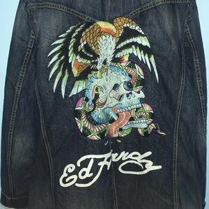Vintage Ed Hardy Jean Jacket